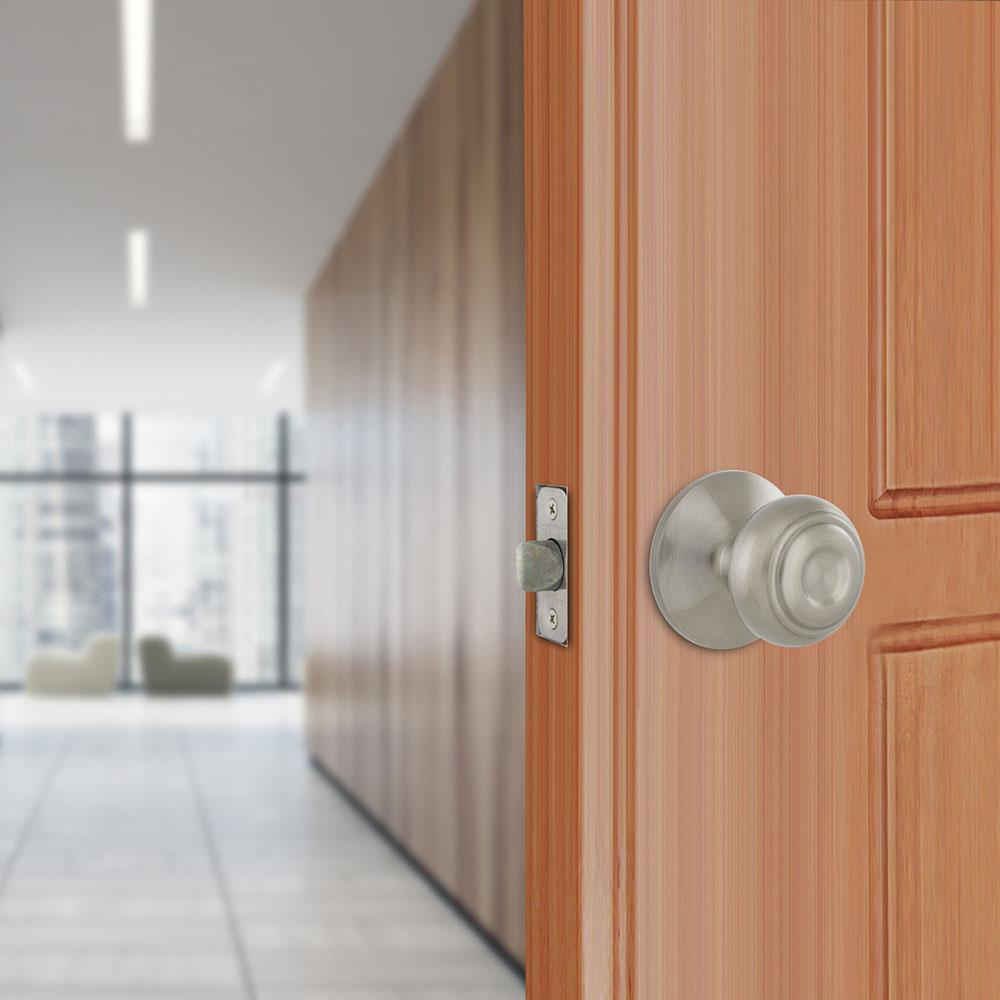 Hartford Satin Nickel Hall and Closet Door Knob Contractor Pack (6-Piece)