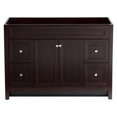 Brinkhill 48 in. W x 34 in. H x 22 in. D Bath Vanity Cabinet Only in Chocolate