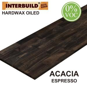 Interbuild Acacia 6 Ft L X 40 In D X 1 In T Butcher Block Island Countertop In Espresso Stain 669285 The Home Depot
