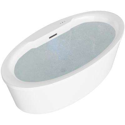 Jarvis Series 67 in. Acrylic Flatbottom Air Bathtub in White