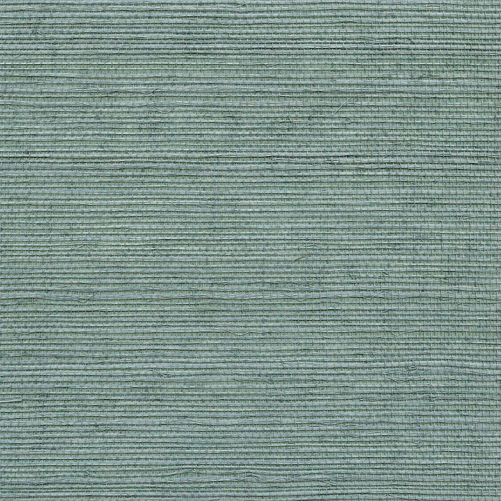 Wisteria Blue Grasscloth Blue Wallpaper Sample