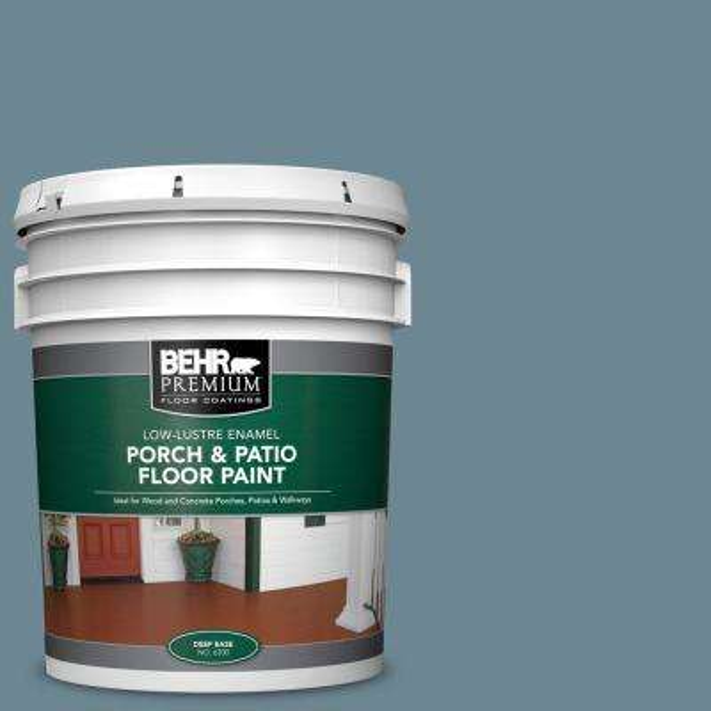 Behr Premium 5 Gal Home Decorators Collection Hdc Ac 24 Lyric Blue Low Lustre Enamel Interior Exterior Porch And Patio Floor Paint 630005 The Home Depot
