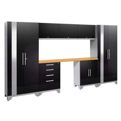 Performance 2.0 72 in. H x 132 in. W x 18 in. D Garage Cabinet Set in Black (8-Piece)