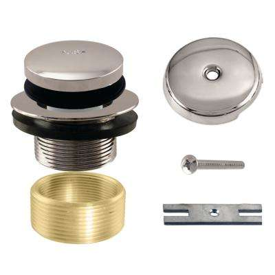 Universal Tip-Toe Tub Drain Trim Kit in Polished Nickel