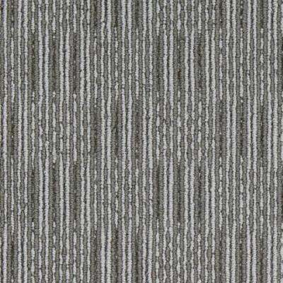 Carpet Sample - Upland Grid - Color Greystone Loop 8 in. x 8 in.