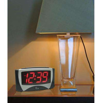 Large 1.2 in. LED Electric Alarm Table Clock