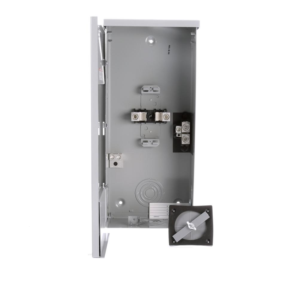 Siemens 200 Amp 2 Space 4 Circuit Breaker Outdoor Small Load Center Enclosures Lw004vru The Home Depot