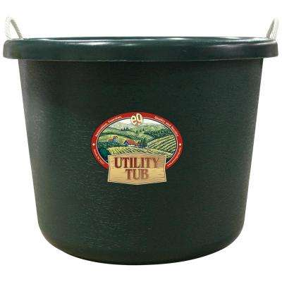17.5 Gal. Bucket Utility Tub For Maintenance Cleaning Growing and More Hunter Green