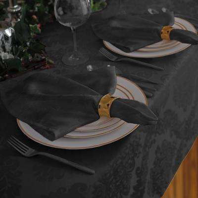 17 in. W x 17 in. L Elrene Barcelona Damask Gray Fabric Napkins (Set of 4)