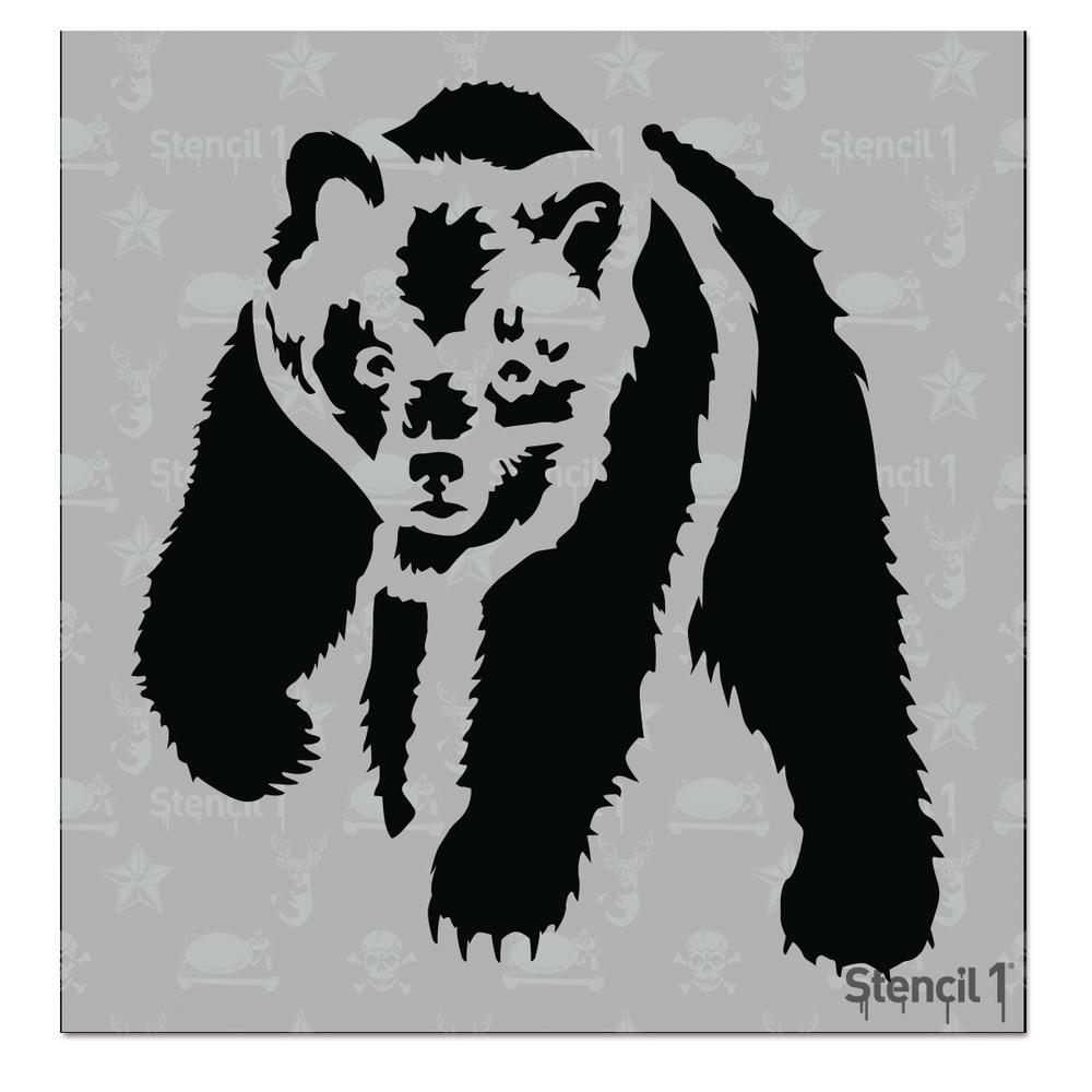 Bear Small Stencil