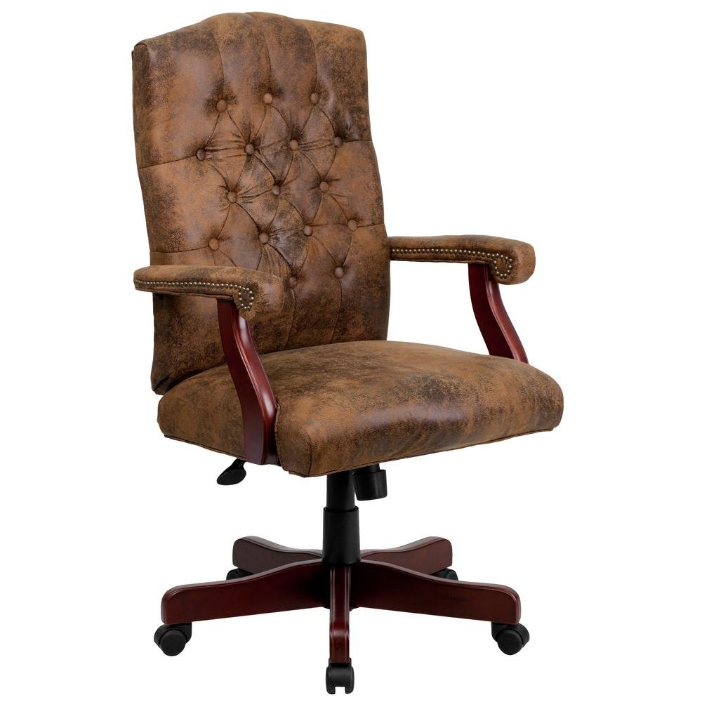 Flash Furniture Brown Office/Desk Chair-802BRN