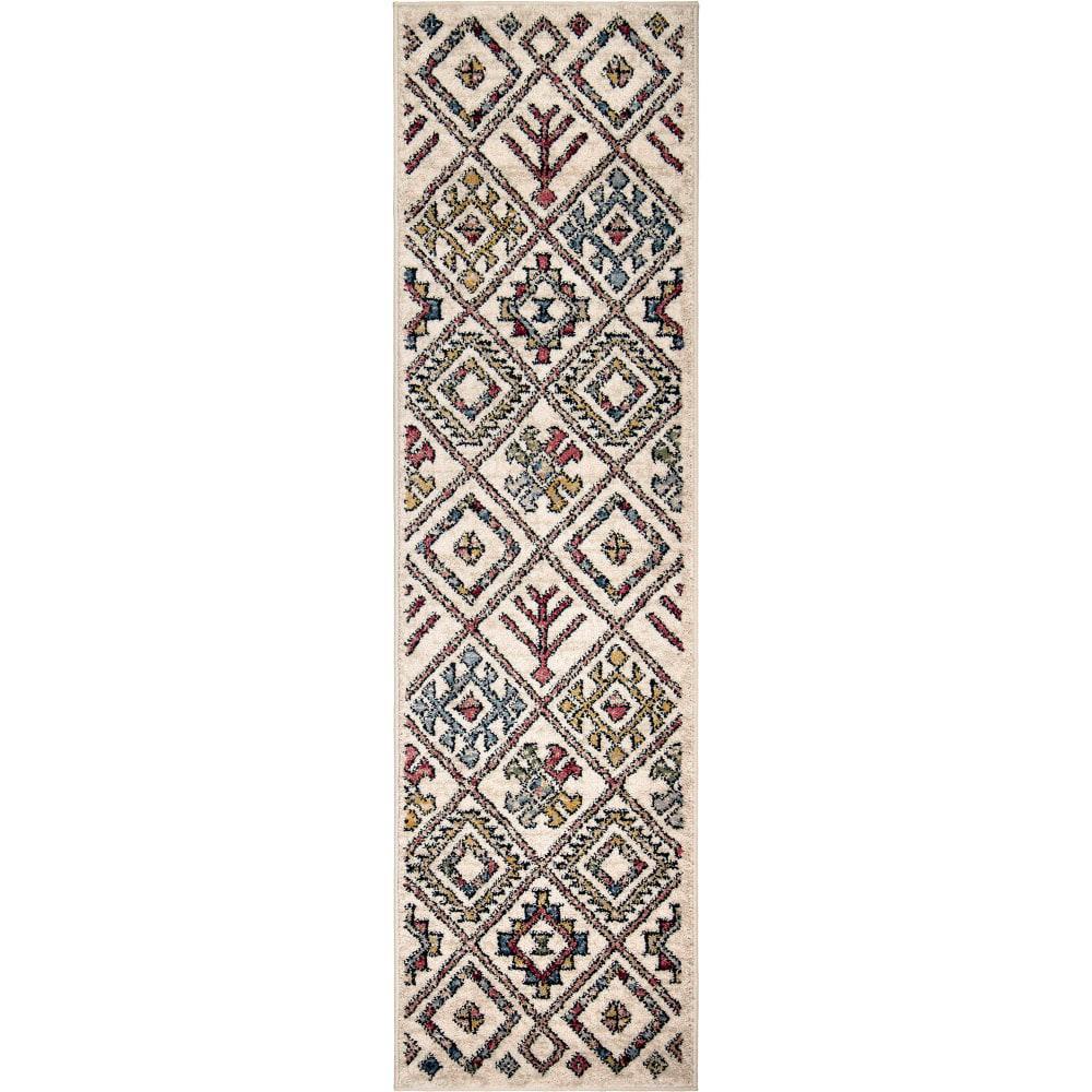 Tangier Off-White Indoor 2 ft. x 8 ft. Runner Rug