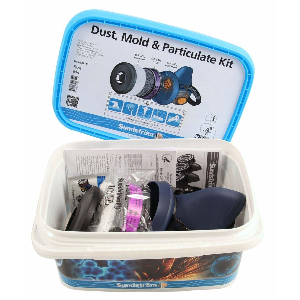 Sundstrom Safety Dust, Mold & Particulate Kit (Sil Mask) S/M