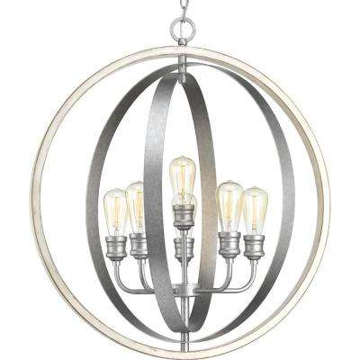 Conestee Collection 6-Light Galvanized Pendant