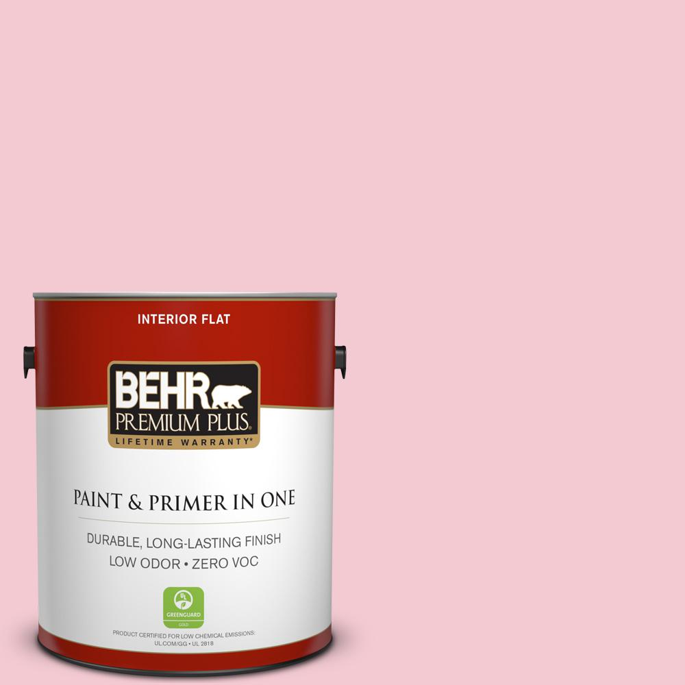 Low Voc Interior Paint: BEHR Premium Plus 1 Gal. #P160-1 Angel Kiss Flat Zero VOC