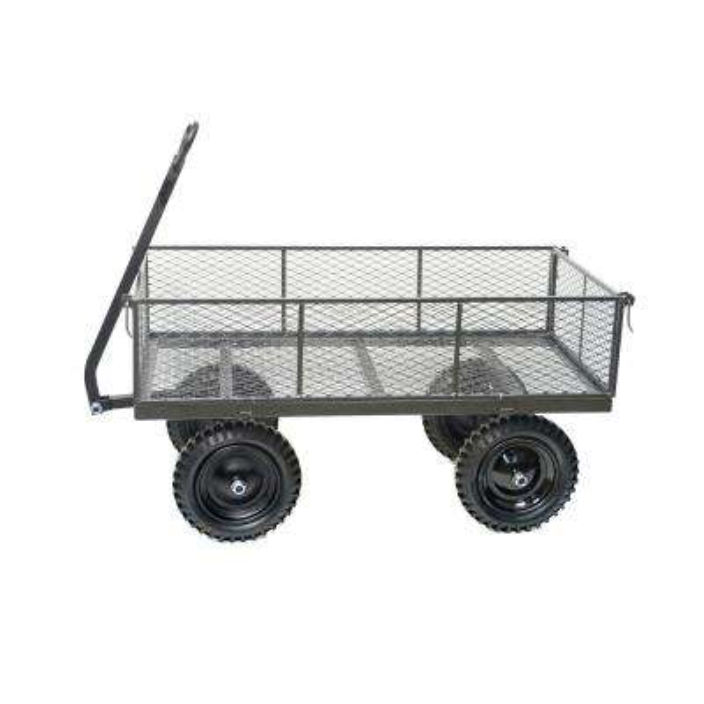 1200 lbs. Heavy-Duty Garden Steel Cart with Flat Free 13 in. x 3 in. Tires