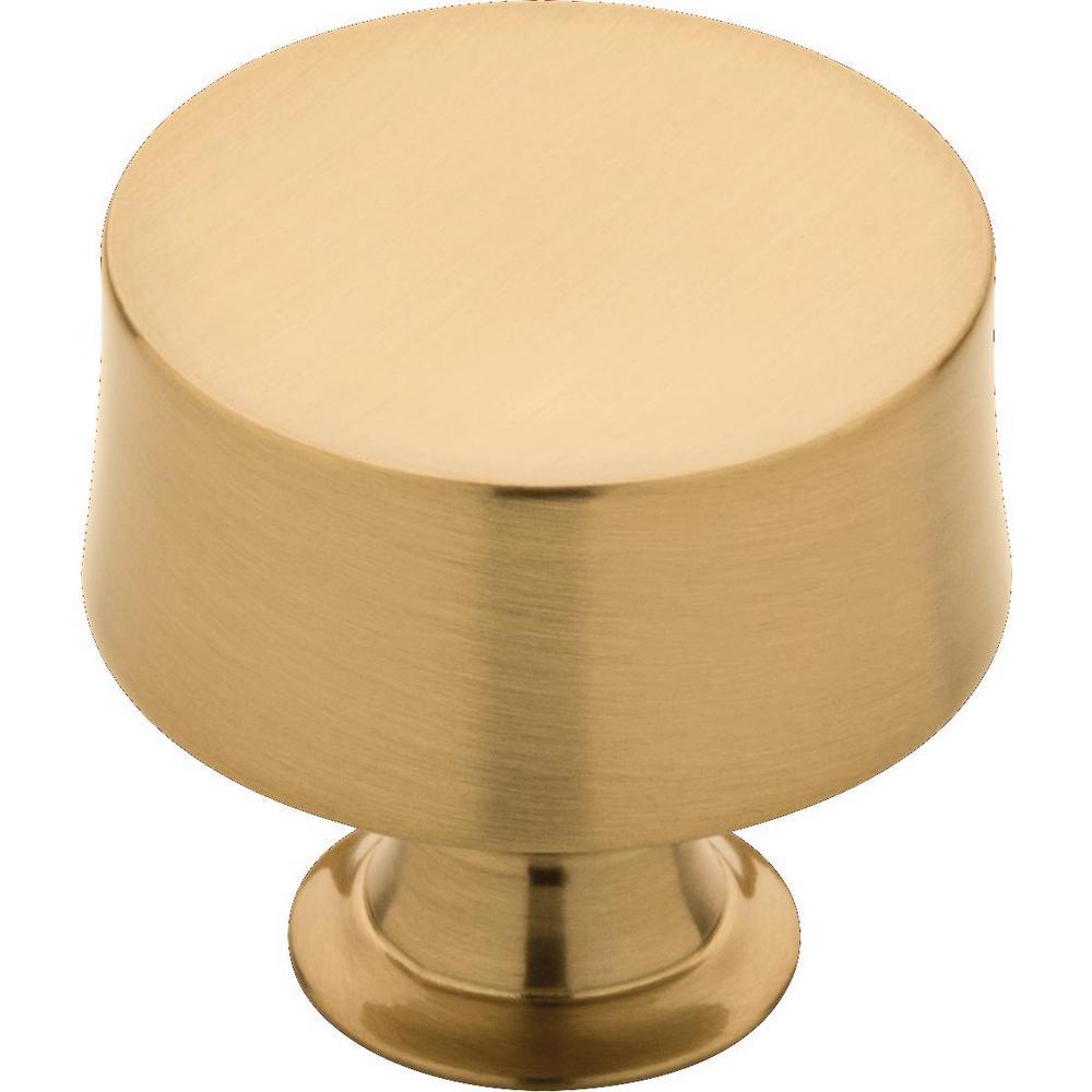 Drum 1-1/4 in. (32 mm) Champagne Bronze Round Cabinet Knob (10-Pack)