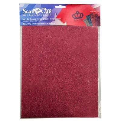 ScanNCut Bright Color Glitter Iron on Transfer Sheets