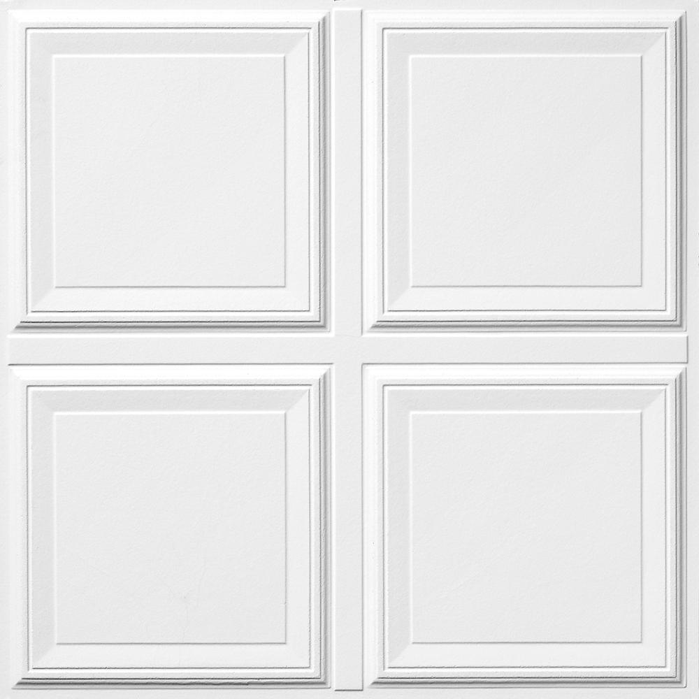 Armstrong raised panel 2 ft x 2 ft raised panel ceiling panels armstrong raised panel 2 ft x 2 ft raised panel ceiling panels 6 pack 1201 the home depot doublecrazyfo Images