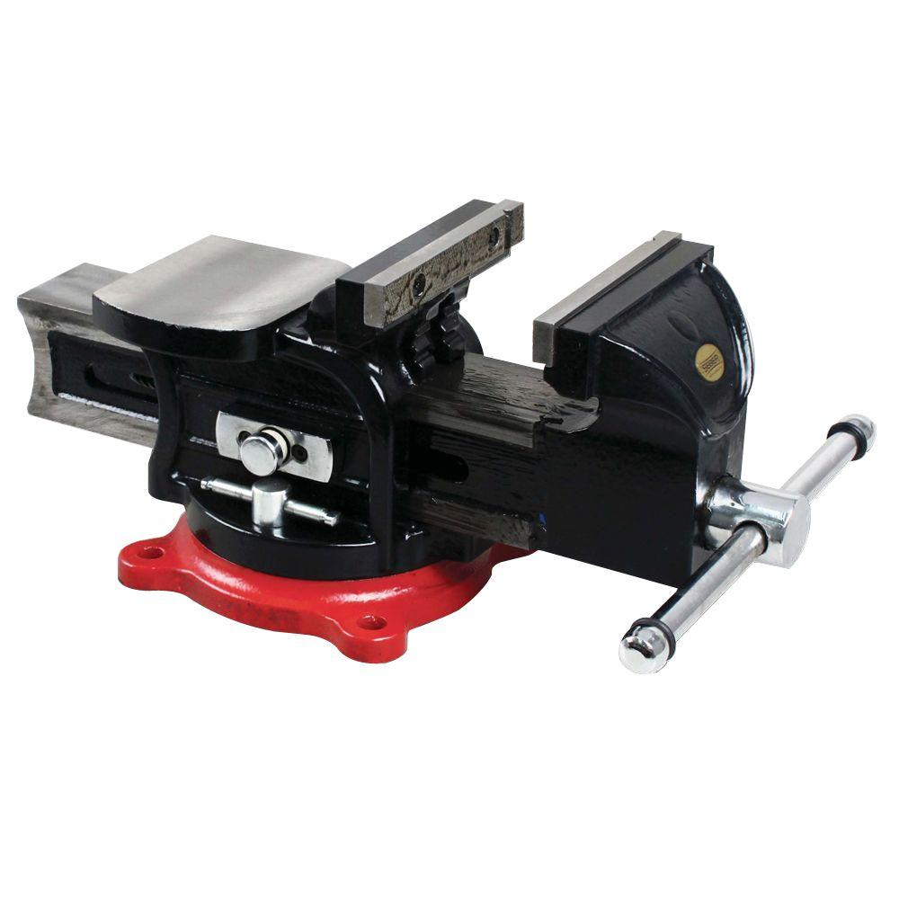 OLYMPIA 5 in. Multi-Purpose Bench Vise with Lever Release