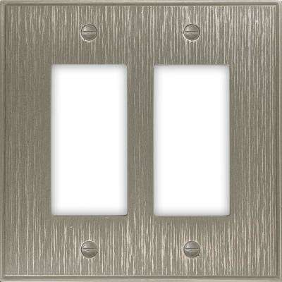Pearson Twill 2-Gang Decor Wall Plate, Brushed Nickel