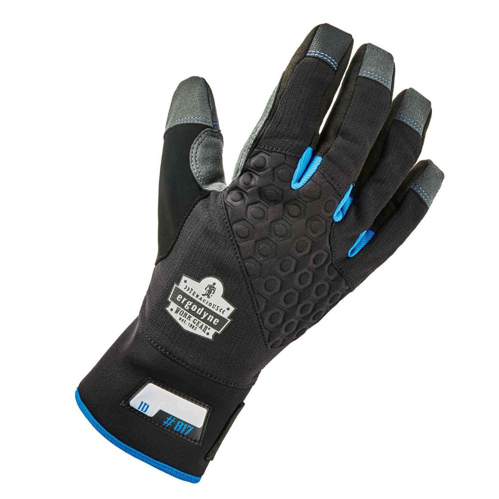817 Large Black Reinforced Winter Work Gloves