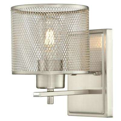 Morrison 1-Light Brushed Nickel Wall Mount Sconce