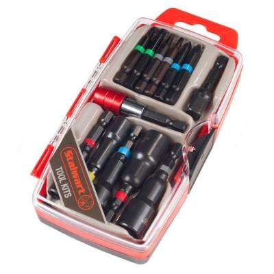 Power Bit and SAE Nut Driver Set (13-Piece)