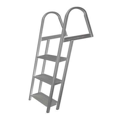 3-Step Angled Aluminum Ladder with Mounting Hardware