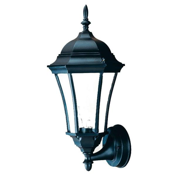 Brynmawr Collection 1-Light Matte Black Outdoor Wall Lantern Sconce