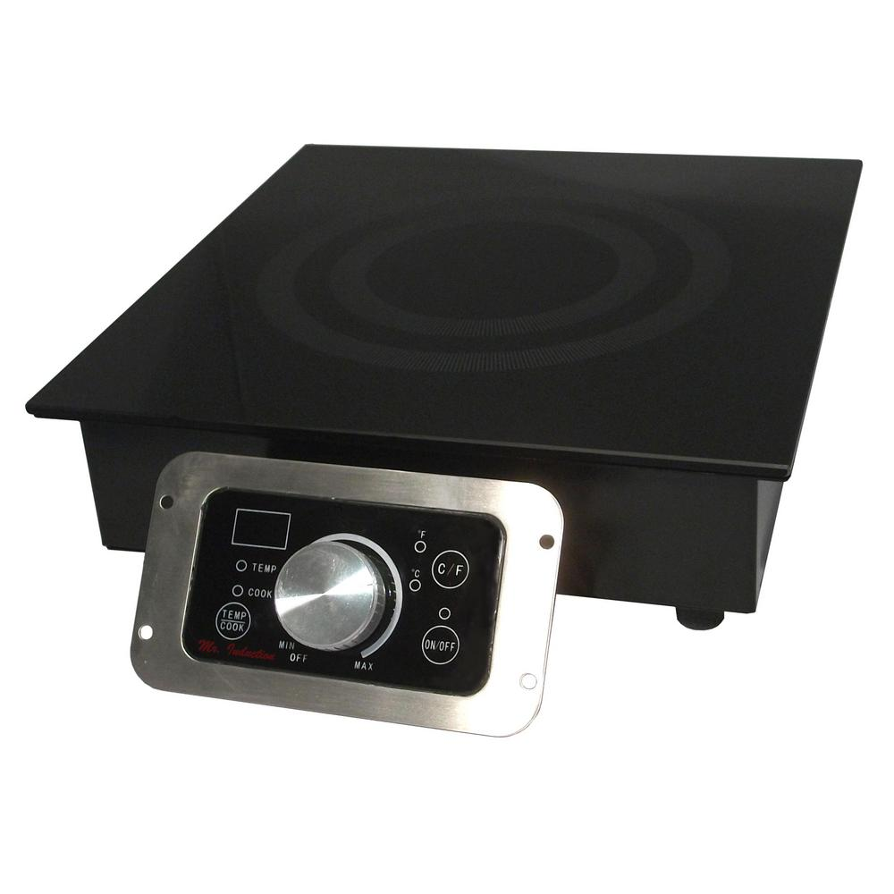 Built In Electric Cooktop In Black With 1 Element