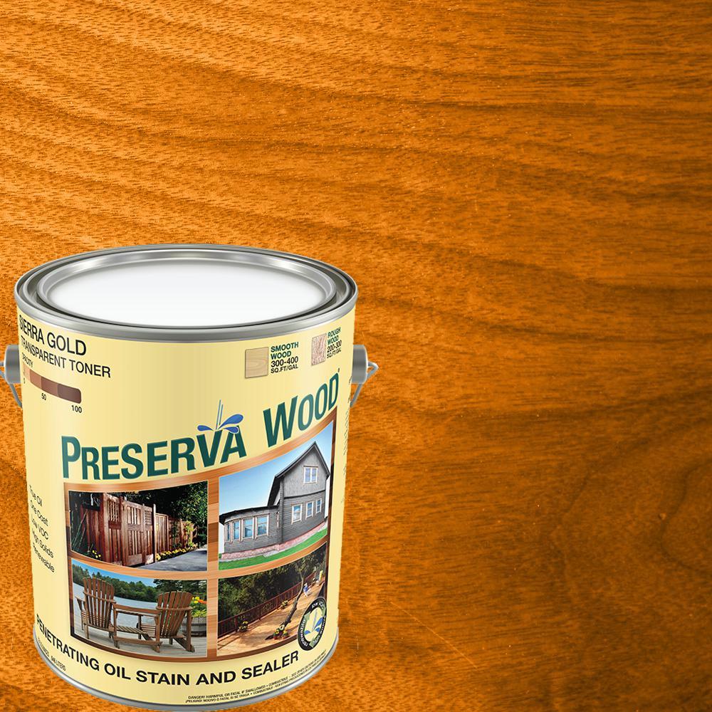 1 gal. Oil-Based Sierra Gold Penetrating Stain and Sealer