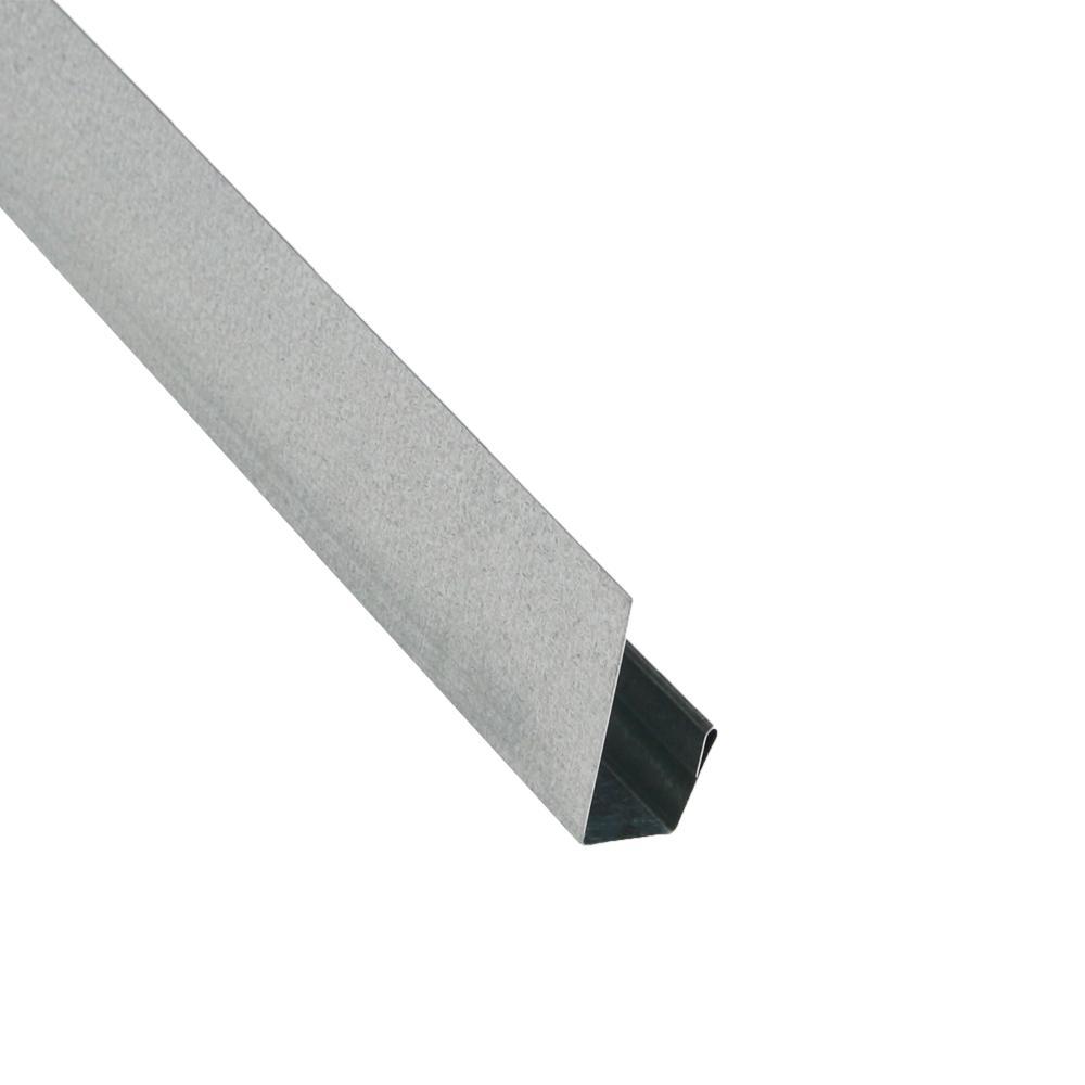 2 in. x 10.5 ft. Steel J-Channel Galvalume Drip Edge Flashing