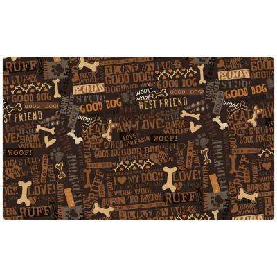 Good Dog Brown 20 in. x 12 in. Multi-Use Pet Mat (Set of 2)