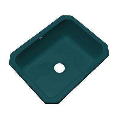 Inverness Undermount Acrylic 25 in. Single Bowl Kitchen Sink in Teal