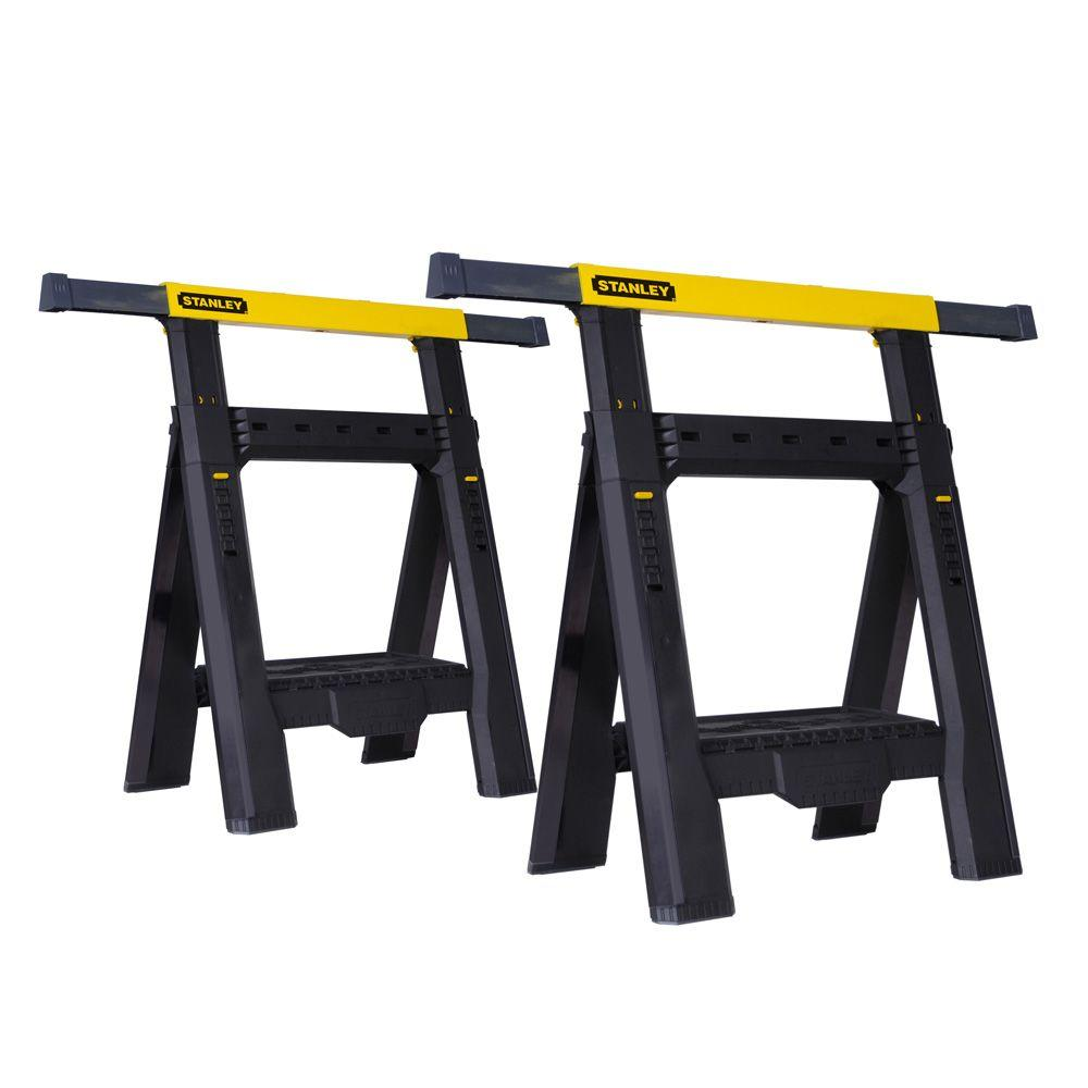 Stanley 31 in. 2-Way Adjustable Folding Sawhorse (2-Pack)