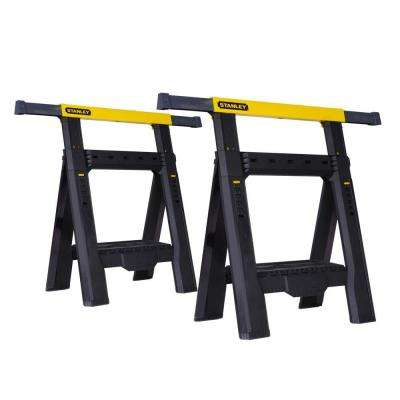 31 in. 2-Way Adjustable Folding Sawhorse (2-Pack)