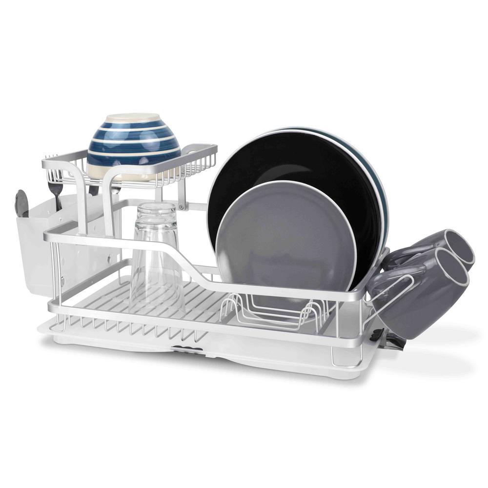 2-Tier Aluminum Dish Rack