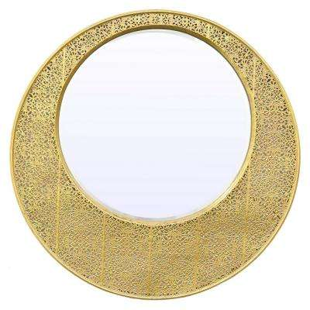 27.5 in. Beveled Mirror in Gold