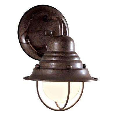 Wyndmere 1-Light Antique Bronze Outdoor Wall Mount Lantern
