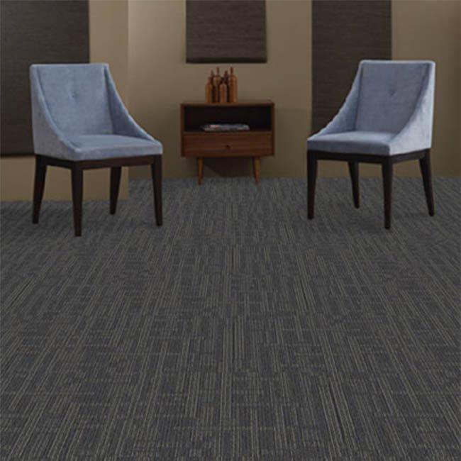 J&J Industries PLANNER Blue 24 in. x 24 in. Modular Carpet Tile Kit(18 Tiles & 1 Packet TileTabs Connectors)-DISCONTINUED