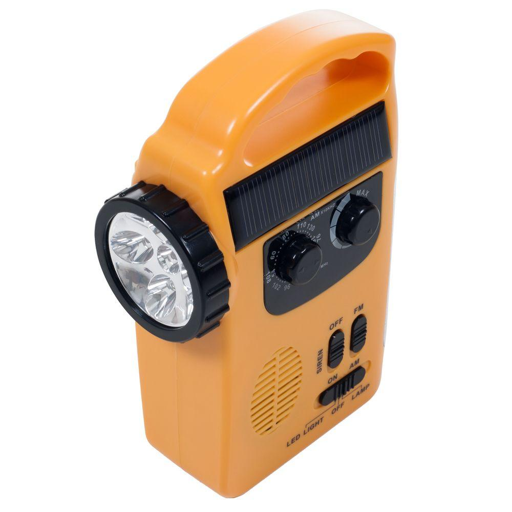 Stalwart 2.6 in. Emergency Flashlight, Radio and Siren