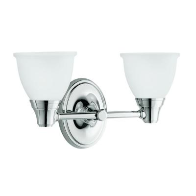Forte Transitional 2-Light Polished Chrome Wall Sconce