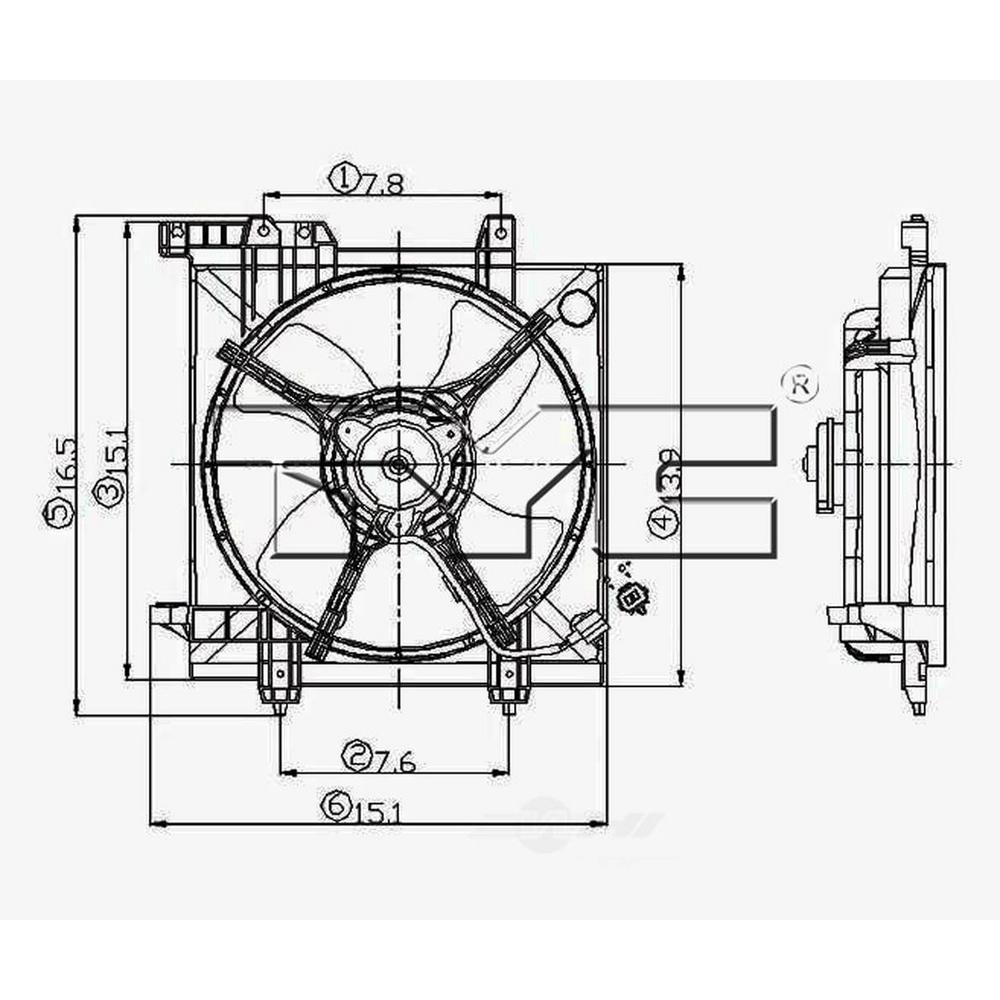 TYC 600550 Subaru Replacement Radiator Cooling Fan Assembly
