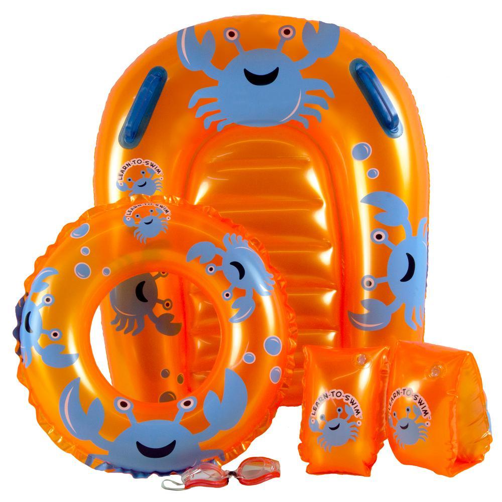 Poolmaster Little Ones Crab Swimming Pool Float Set, Orange
