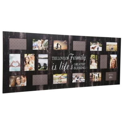 Family 4 in. x 6 in. Black Collage Picture Frame