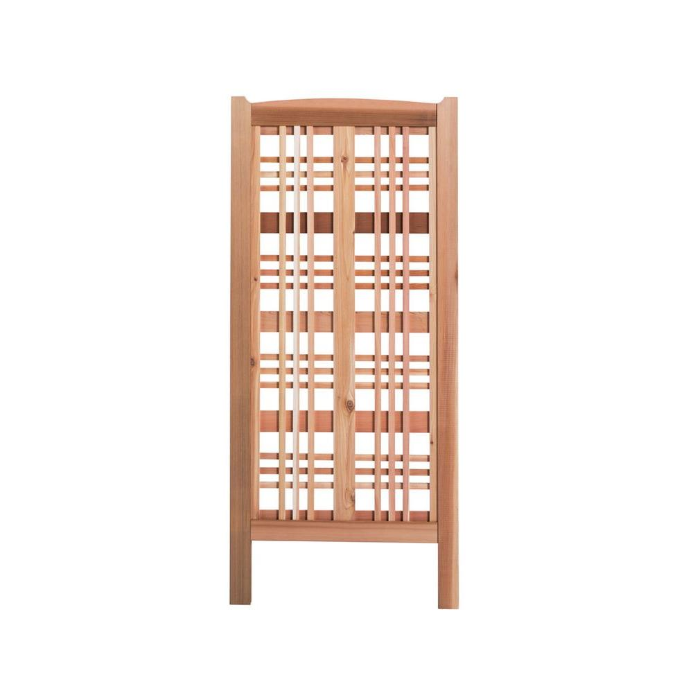 59 in. Cedar Claremont Landscape Screen Trellis