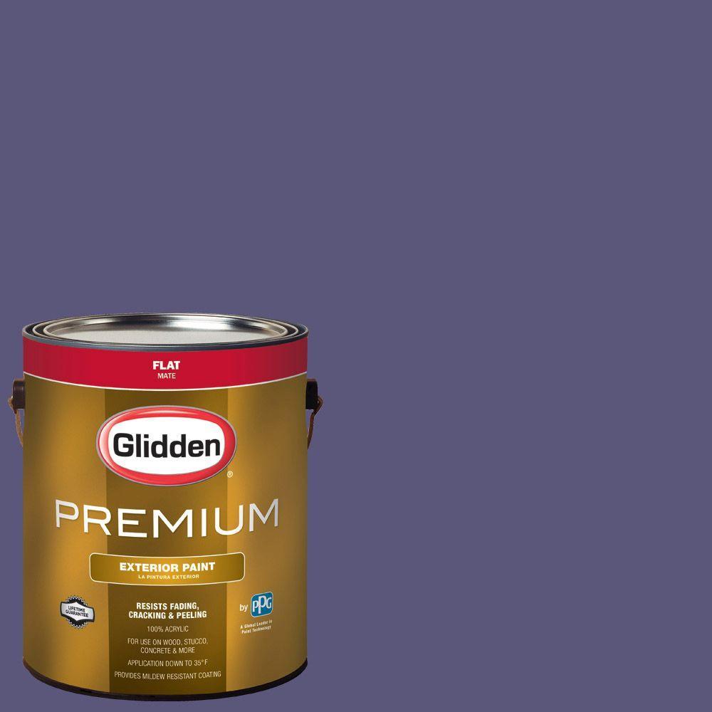 Glidden Premium 1-gal. #HDGV47D Fresh Grape Juice Flat Latex ...