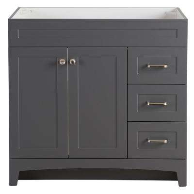 Thornbriar 36 in. W x 21 in. D Bathroom Vanity Cabinet in Cement