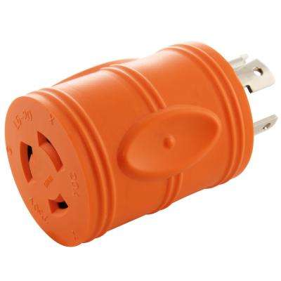 Locking Adapter NEMA L14-30P 30Amp 125/250Volt 4Prong Locking Plug to L6-20R 3Prong 20Amp 250Volt Locking Female